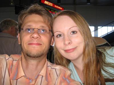 Tommi ja Ilona Tallinnassa 20.07.2006.